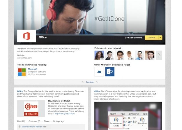 LinkedIn Showcase Pages Put More Focus on Customers